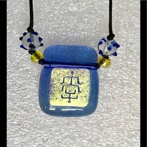 Artisan Made Fused glass necklace